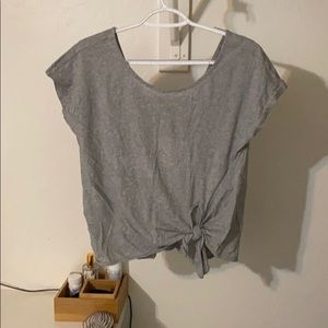 Tied Gray Crop